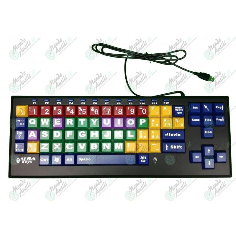 Albakeys tastiera espansa colorata - Tastiera del letto ...