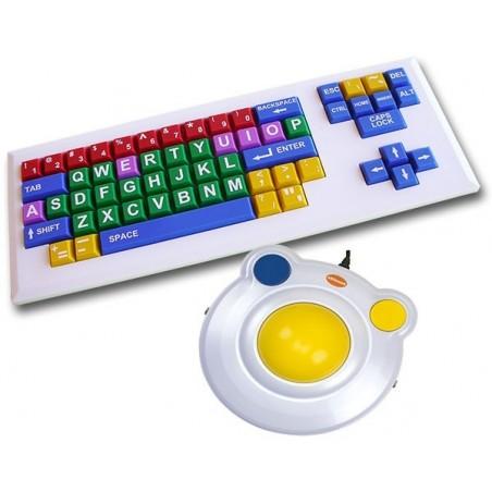 ALBA Combo - Con tastiera VisionKeys Bianca
