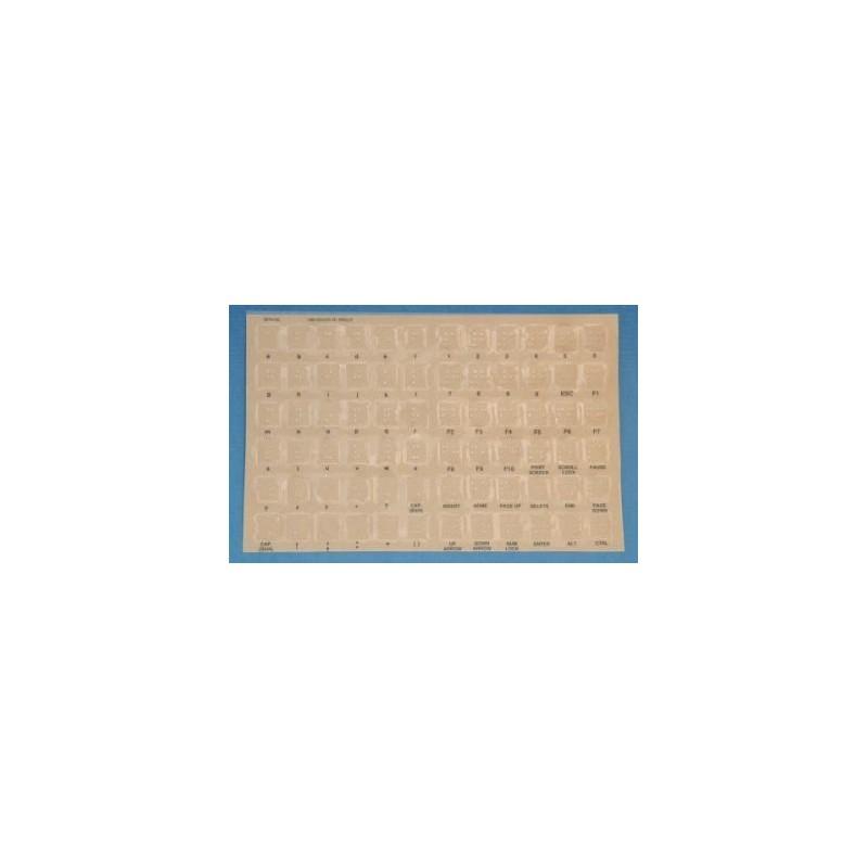 Etichette adesive braille per tastiera